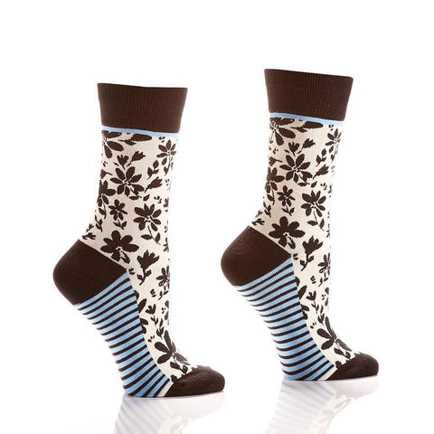 In Full Bloom: Women's Crew Socks