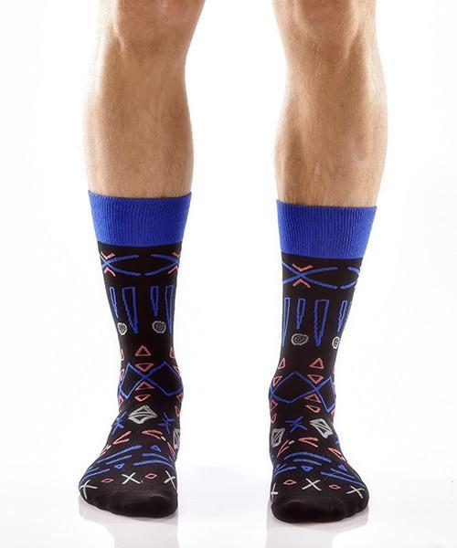 Aztec Adventure Men's Crew Socks , Socks - Yo Sox, Canada Yo Sox  - 1