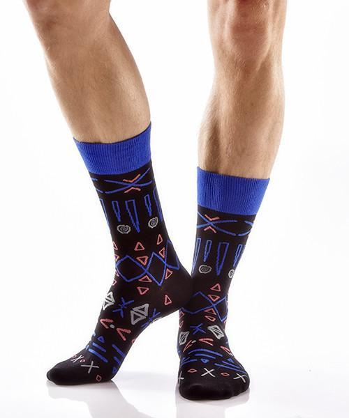 Aztec Adventure Men's Crew Socks , Socks - Yo Sox, Canada Yo Sox  - 2