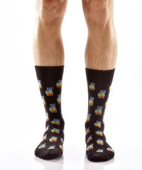Peace + Love Men's Crew Socks , Socks - Yo Sox, Canada Yo Sox  - 2