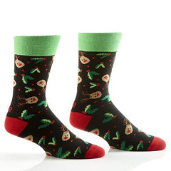 Night Before Christmas: Men's Novelty Crew Socks