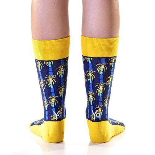 Hit The Beach (Yellow): Women's Crew Socks