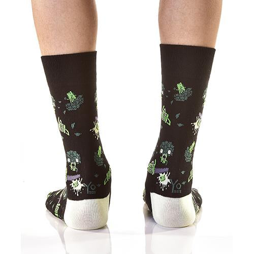 Bad-Ass Broccoli: Men's Novelty Crew Socks