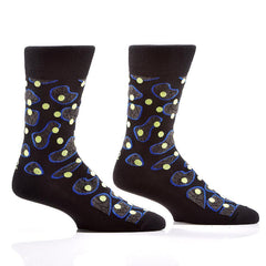 Under the Microscope (Black): Men's Crew Socks