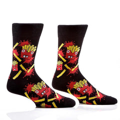 Freaky Fries: Men's Novelty Crew Socks