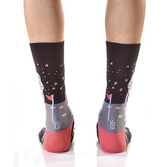 Moon Landing: Men's Novelty Crew Socks