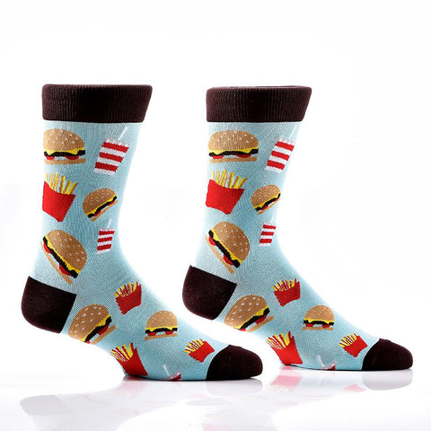 Side of Fries: Men's Novelty Crew Socks