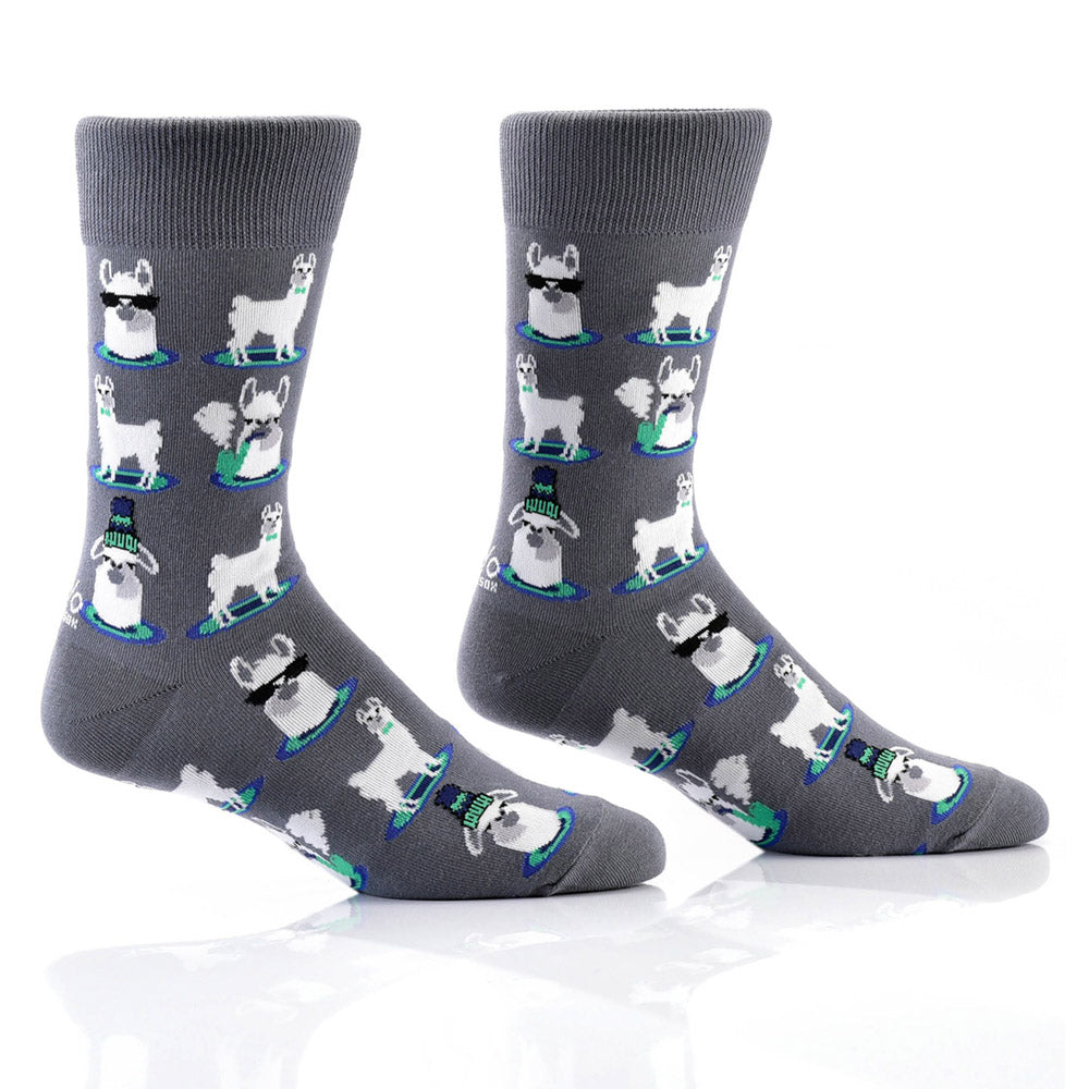 Let's Get Llama: Men's Novelty Crew Socks
