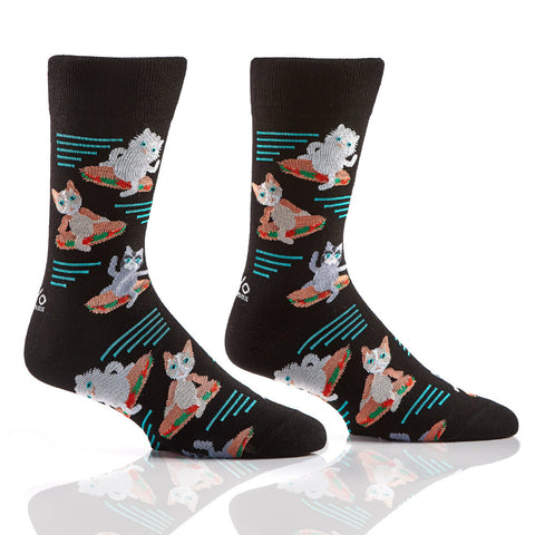Hungry Cat: Men's Novelty Crew Socks