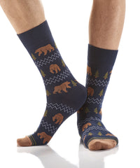 Gone Grizzly: Men's Novelty Crew Socks