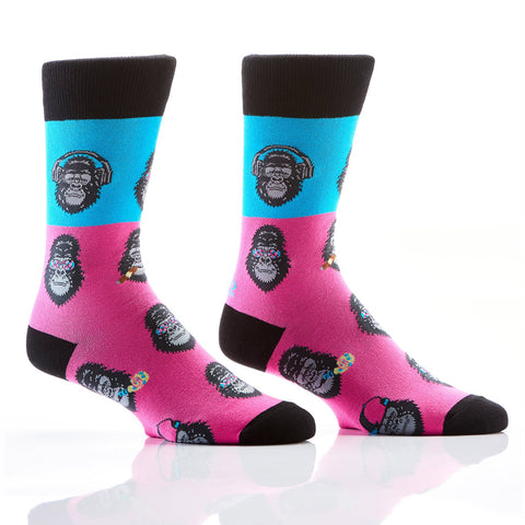 Groovy Gorilla's: Men's Novelty Crew Socks