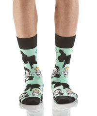 Distinguished Cows: Men's Novelty Crew Socks