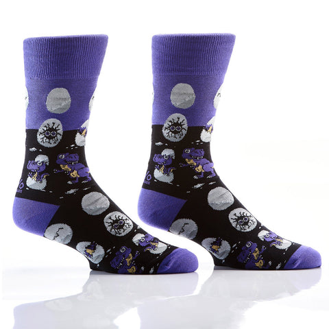 Prehistoric Creatures: Men's Novelty Crew Socks
