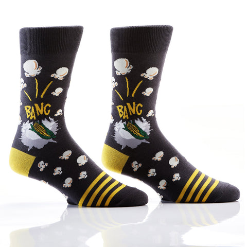 Let's Get Poppin': Men's Novelty Crew Socks