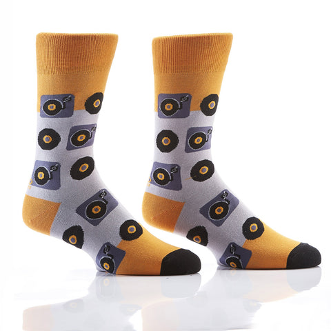 Hey Mr. DJ: Men's Novelty Crew Socks