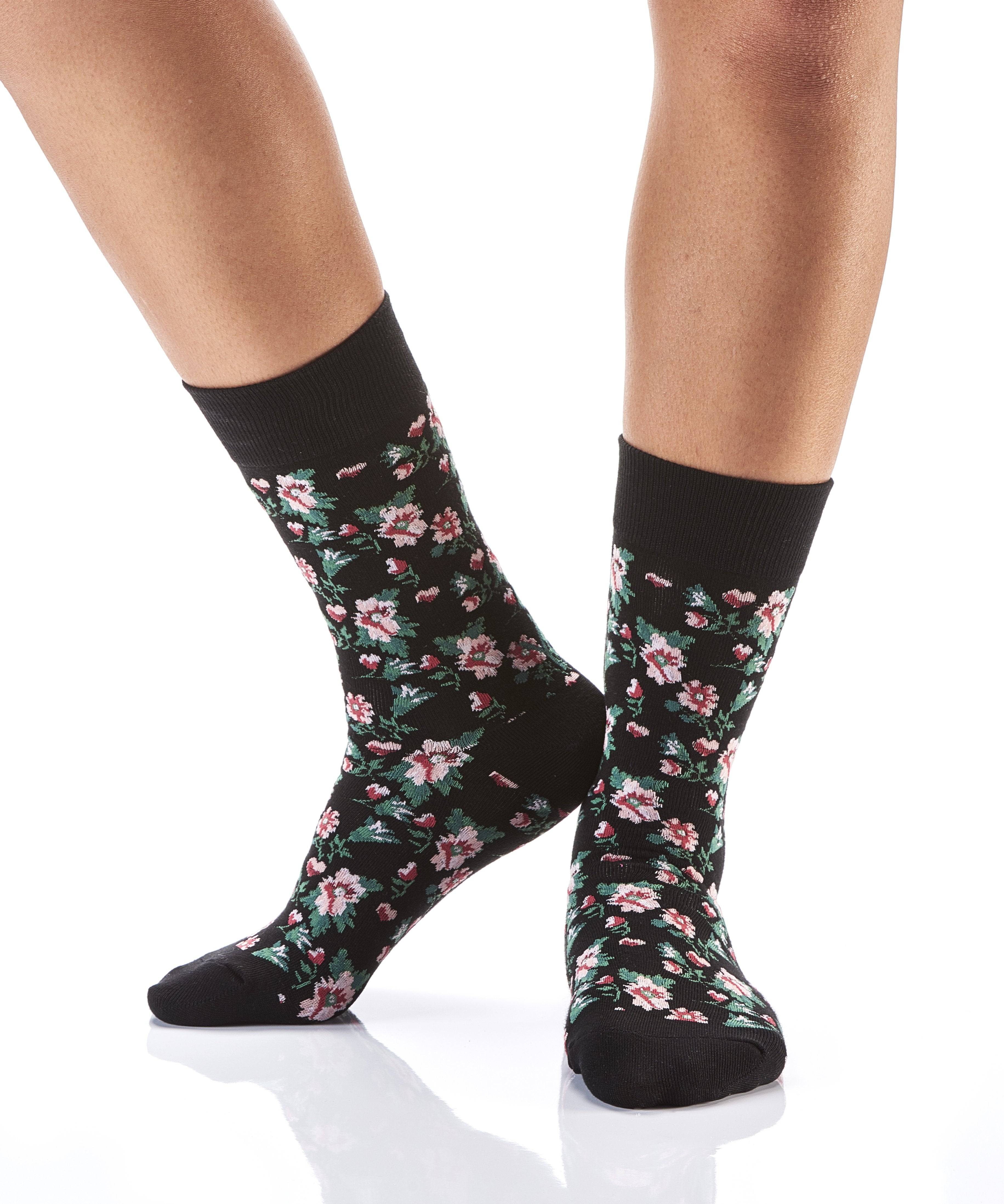Fun With Floral: Women's Novelty Crew Socks