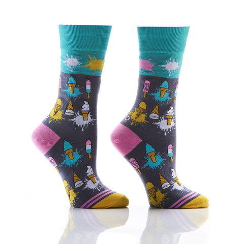 Ice-Ice Baby: Women's Crew Socks