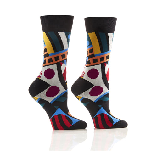 Retro Vibes: Women's Novelty Crew Socks