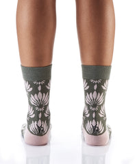 What in Carnation: Women's Novelty Crew Socks