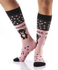 Cuddly Buddy: Women's Knee-High Socks - Yo Sox Canada