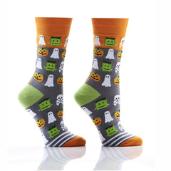 Goblins, Ghouls & Ghosts: Women's Crew Socks