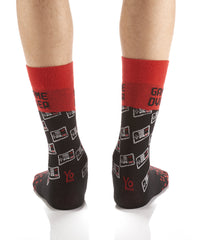 Game Over: Men's Crew Socks - Yo Sox Canada