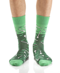 Hole in One: Men's Crew Socks - Yo Sox Canada