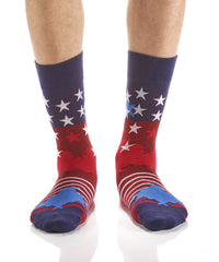 Red, White & Blue: Men's Crew Socks