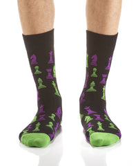 Checkmate: Men's Crew Socks - Yo Sox Canada