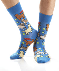 Dog Dayz: Men's Crew Socks - Yo Sox Canada
