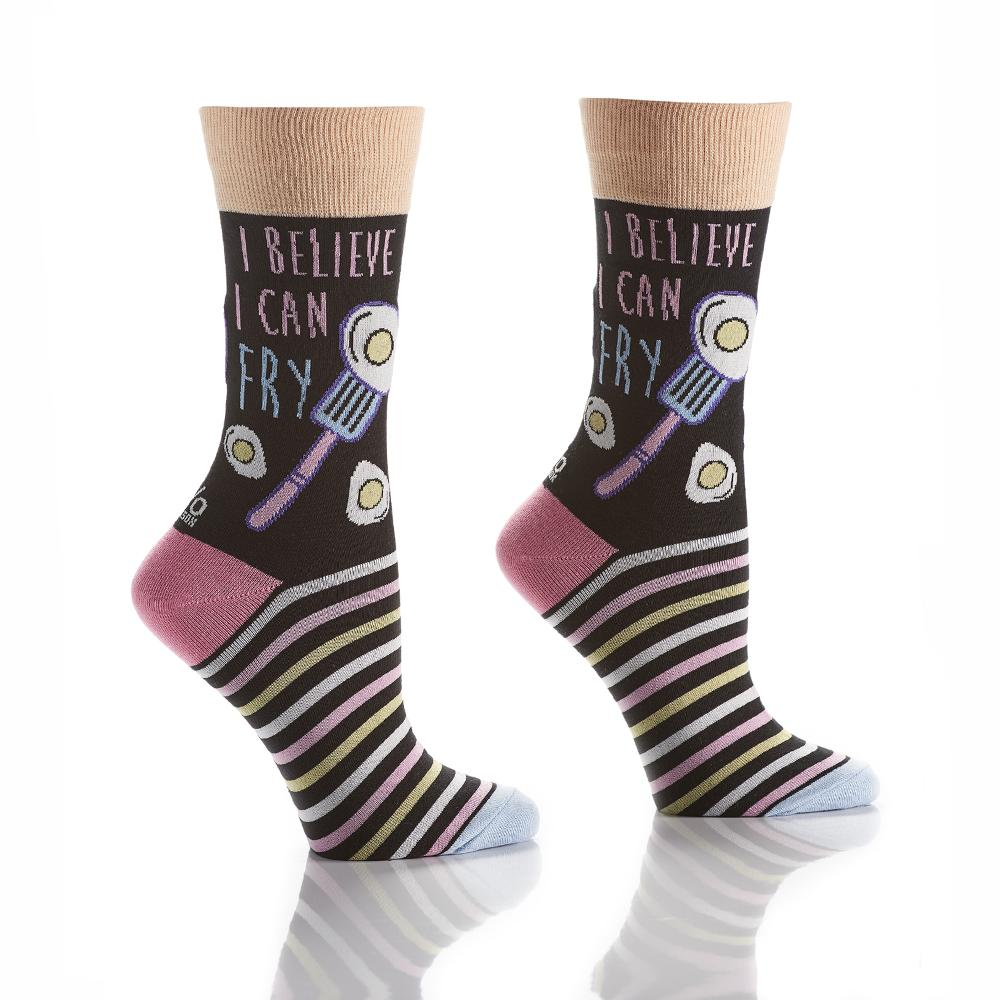 Breakfast is Served: Women's Crew Socks - Yo Sox Canada