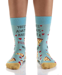 Pizza My Heart: Women's Crew Socks