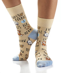 Cool Cat Lady: Women's Crew Socks