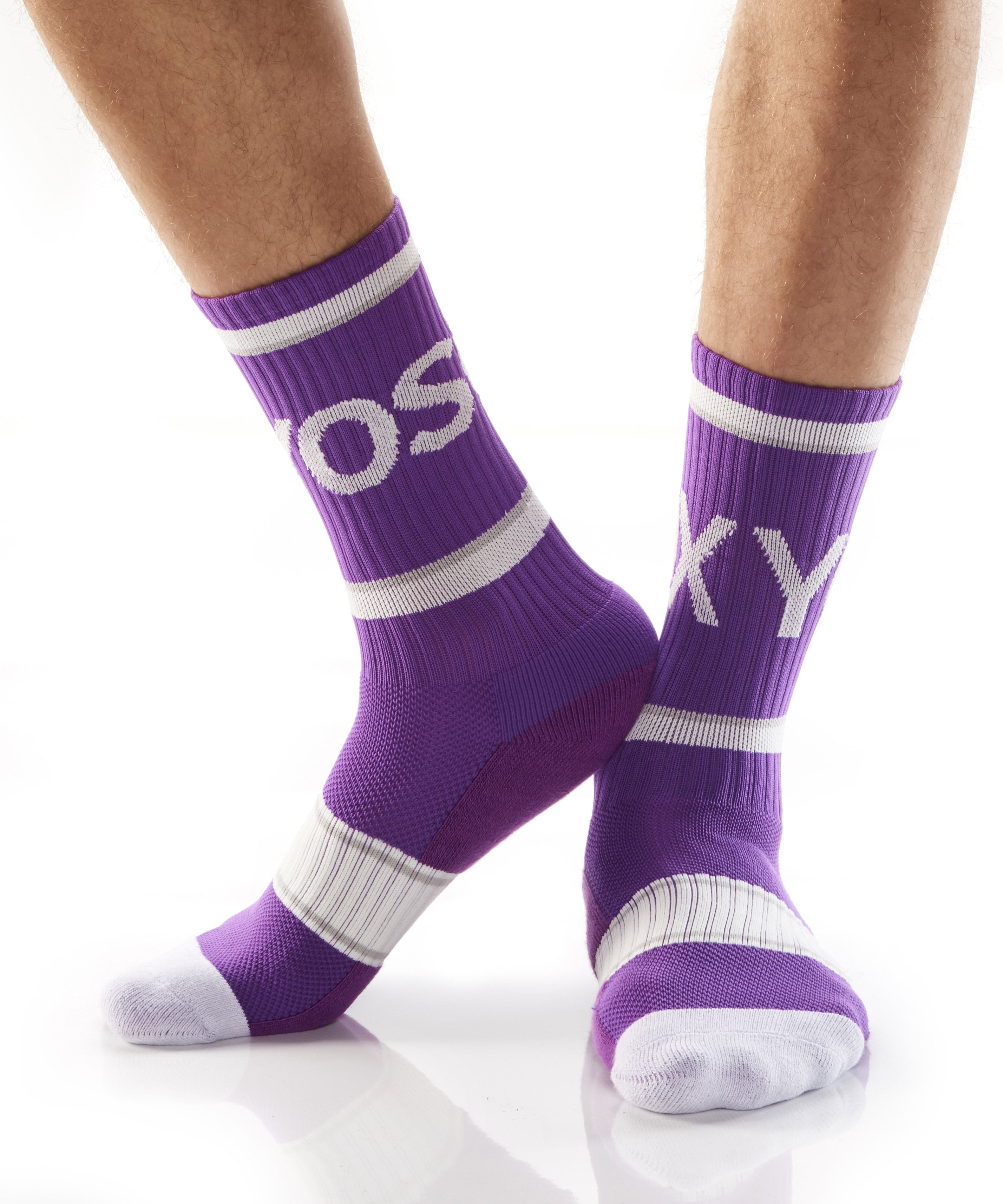 Purple Athletic Crew Socks