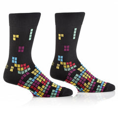 Tetrominoes: Men's Crew Socks