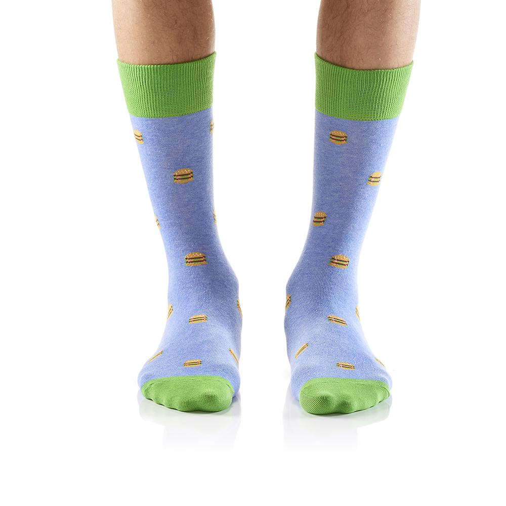 Micro Burger: Men's Crew Socks - Yo Sox Canada
