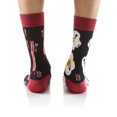Breakfast Party: Men's Crew Socks - Yo Sox Canada