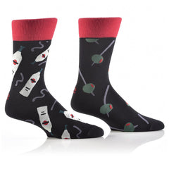 Olive Martini: Men's Crew Socks - Yo Sox Canada