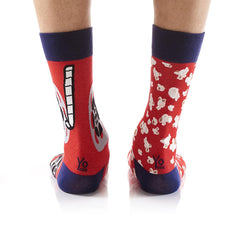 Pop Pop, Movie Time: Men's Crew Socks