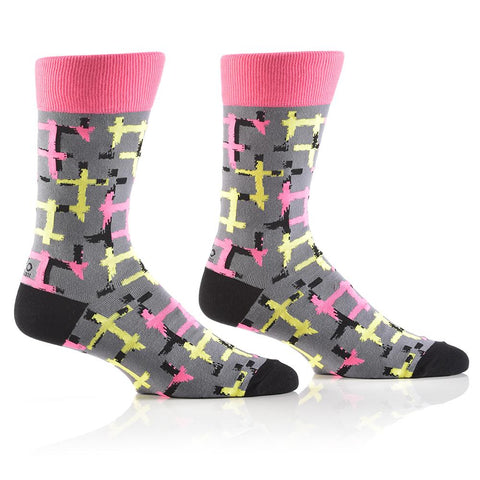 Neon Pipes: Men's Crew Socks - Yo Sox Canada