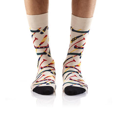 Do you even canoe?: Men's Crew Socks - Yo Sox Canada