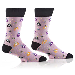 Party Animal: Men's Crew Socks - Yo Sox Canada