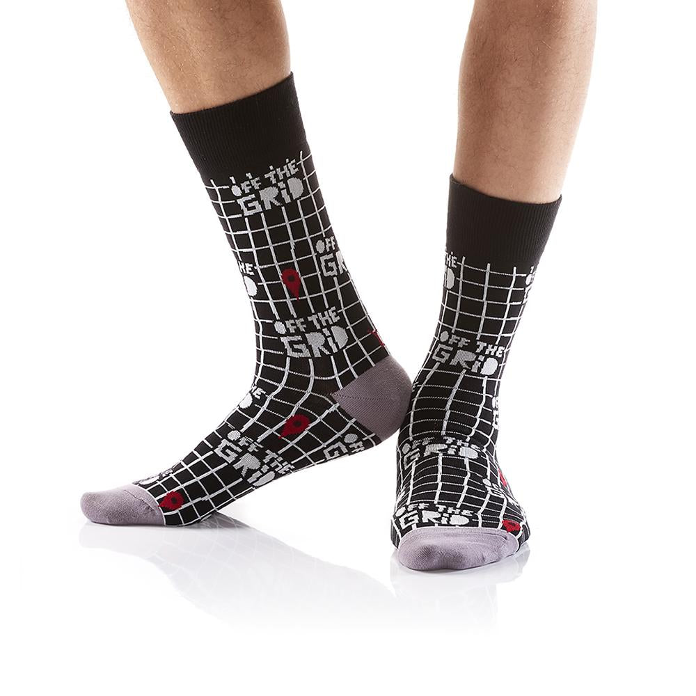 Off the Grid: Men's Crew Socks - Yo Sox Canada