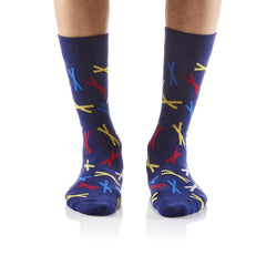 X's and No O's: Men's Crew Socks