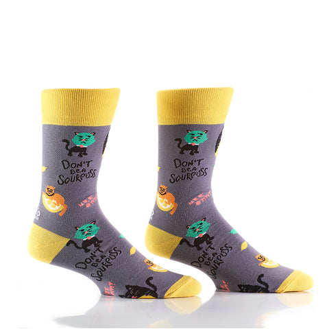 Sour Puss: Men's Crew Socks