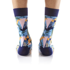 Island Time: Men's Crew Socks - Yo Sox Canada