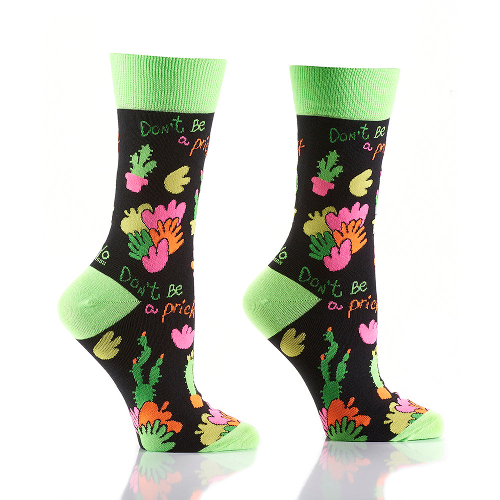 Don't be a Prick: Women's Crew Socks