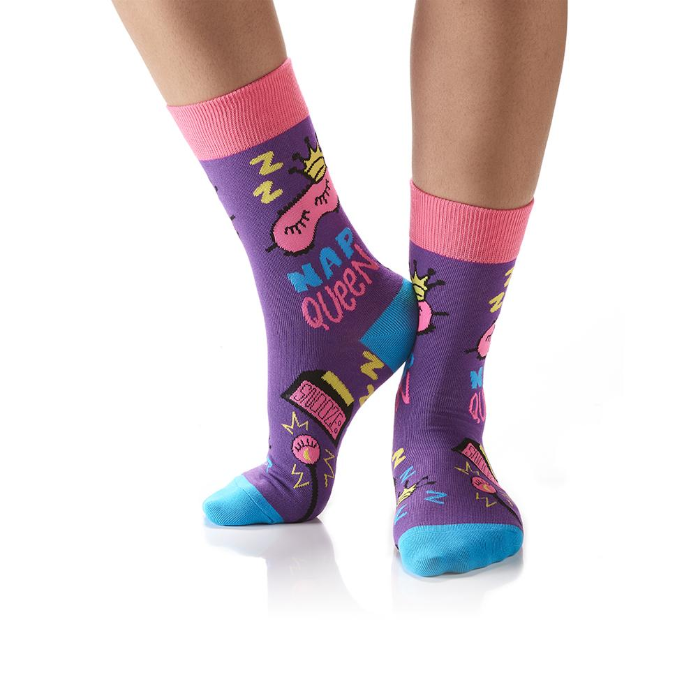 Nap Queen: Women's Crew Socks - Yo Sox Canada