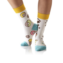 Coffee & Donuts: Women's Crew Socks - Yo Sox Canada