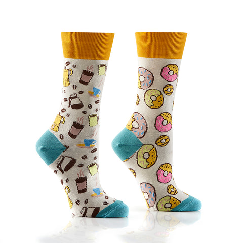 Coffee & Donuts: Women's Crew Socks